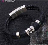 Armband van het Leer van de Juwelen van het Roestvrij staal van de Mensen van de manier de Koele
