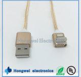 Accessoires de téléphone mobile chargeant le câble usb magnétique d'iPhone de datte