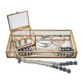 Plateau en verre Tray-1001 de bijou de décoration à la maison