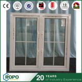 O dobro branco do quadro de UPVC de vidro balanç para fora o quarto Windows