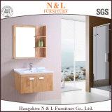 N&L 2017の壁に取り付けられた純木の浴室の虚栄心