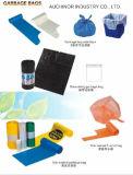 La doublure en plastique recyclable noire de coffre de sac de perte de sac à ordures peut sac d'ordures de sac de perte de nourriture de doublure