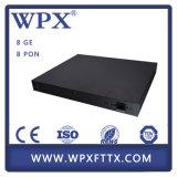 Линия стержень Olt FTTX Gepon 8 Pon оптически