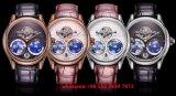 Reloj mecánico hermoso para los hombres con la venda Fs446 del cuero de Gunine