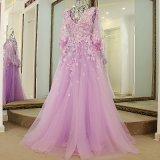 3D цветет Bridal платья вечера Z3007 выпускного вечера партии втулок крышки мантий шарика
