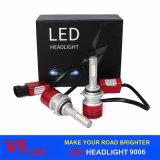 차와 기관자전차를 위한 고성능 LED 자동 맨 위 램프 9006 Hb4 H4 H11 H7 V5 Csp LED 헤드라이트 6000k