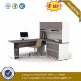 シンプルな設計のオフィス用家具の本だな(HX-N0117)が付いている白いコンピュータの机