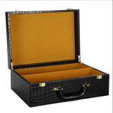 Caja de cuero de la PU de la alta calidad / caja de regalo de cuero con la impresión del cocodrilo para las ventas al por mayor