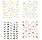혼합 물 못 예술 스티커 못 스티커가 유행 3D에 의하여 꽃이 핀다
