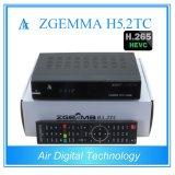 Twee DVB T2/C + DVB S2 met H. 265 Kodi Speler Zgemma H5.2tc
