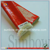 Sleeving à prova de fogo da fibra de vidro da borracha de silicone da resistência térmica