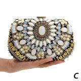 Los bolsos de tarde cristalinos de las mujeres del monedero del embrague del bolso de lujo del Rhinestone tienen 3 talla Eb784ABC