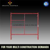 Échafaudage de cadre de porte de construction