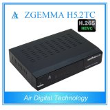Deux DVB T2/C + DVB S2 avec le joueur Zgemma H5.2tc de H. 265 Kodi