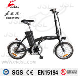 """"""" E-Велосипед миниого типа черноты рамки алюминиевого сплава 16 складывая (JSL016A-3)"""