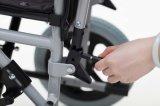 """Plegamiento de acero, 12 """" rueda, sillón de ruedas manual (YJ-021C)"""