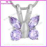 De Tegenhanger van de Vlinder van de Halsband van de herinnering met Kristallen Ijd9744
