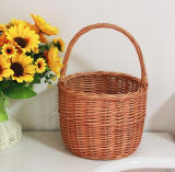 (BC-WF1032)環境に優しいハンドメイドの自然なヤナギの花のバスケット