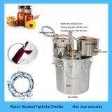 Der 3 Gallonen-destillieren kupferner Potenziometer-noch Stahldampfkessel u. Klopfer DestillationMoonshine