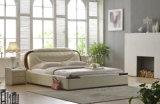 새로운 우아한 디자인 침실을%s 현대 진짜 가죽 침대 (HC903)