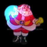 Distintivo 2017 di lampeggiamento dei regali LED di natale con il marchio disponibile (3569)