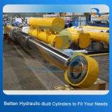 Double cylindre hydraulique télescopique temporaire pour la remorque de vidage mémoire