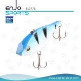 Señuelo superior Lipless duro de los trastos de pesca del agua del ABS selecto del pescador con Vmc los ganchos de leva agudos (LL0776)