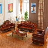 Sofa de cuir véritable avec le Module pour des meubles de salle de séjour
