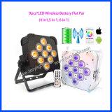 DMX LED de la batería PAR 9PCS * 15W Luz