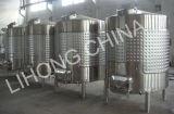 Acero inoxidable camisa de refrigeración del vino contenedor de almacenamiento con lateral de alcantarilla