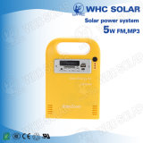 Whc 6V5w Kit de Energia Solar LED recarregável para Camping