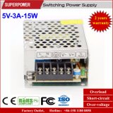 fuente de alimentación de la conmutación de 5V 3A 15W para la pantalla de visualización de LED