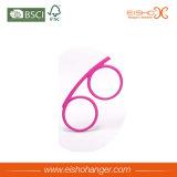 Eisho 분홍색 비닐 입히는 금속 스카프 걸이 (YJ001)