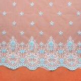 刺繍はウェディングドレスのためのレースファブリックを設計する