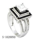 Nieuwste Juwelen 925 Zilveren van de Manier van de Stijl Ring Weding