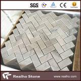 Mattonelle di mosaico di marmo bianche Herringbone poco costose di 305X305 Carrara per la parete