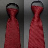 자카드 직물에 의하여 길쌈되는 빨간 넥타이, 고전적인 형식 실크 넥타이 (A019)