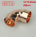 90 Grad-Krümmer für die kupfernes Gefäß-Verbindung