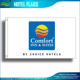 Bandeiras feitas sob encomenda do hotel do poliéster da impressão