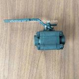 800lb a modifié le robinet à tournant sphérique de l'extrémité d'amorçage de l'acier du carbone A105 TNP