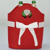 La coutume chaude de vente a estampé le feutre un sac de cadeau de vin de bouteille