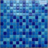 Mosaicos azules del vidrio de los colores de la mezcla barata del precio