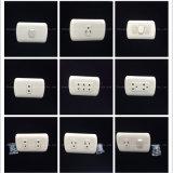 Socketes de pared dobles de cobre materiales del ABS (P-005)