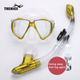 Thenice New Diving Mask Snorkeling Lunettes de respiration Tube Silicone Scuba