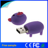 Do porco bonito do silicone dos desenhos animados capacidade real Shaped 8GB Pendrive do PVC