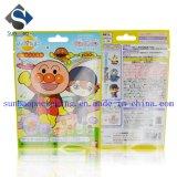 bolso compuesto impreso aduana del embalaje del juguete del sello 3-Side