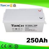 12V 250Ah VRLA de alta calidad de ciclo profundo de la batería de energía solar