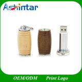 Azionamento di legno dell'istantaneo del USB del metallo di Pendrive del bastone del USB della benna di vino