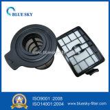 Peça de filtro preto para aspirador de pó doméstico e de escritório