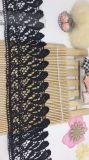 Merletto di nylon di immaginazione della guarnizione del ricamo del poliestere del merletto del commercio all'ingrosso 9cm della fabbrica del ricamo di riserva di larghezza per l'accessorio degli indumenti & tessile & tende domestiche